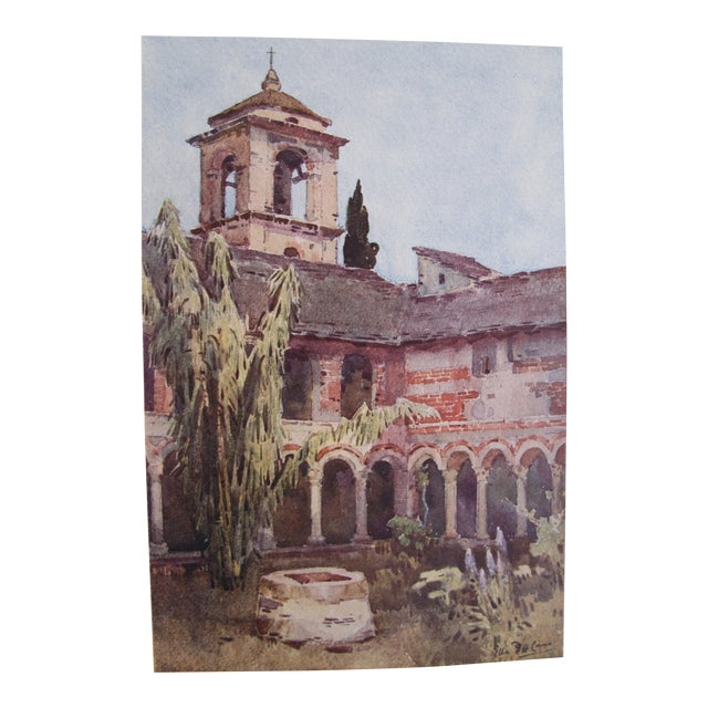 1905 Ella du Cane Print, Il Chiostro di Piona, Lago di Como - Image 1 of 5