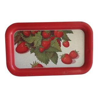Vintage Metal Strawberry Tray