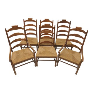 Country French Ladderback Dining Chairs - Set of 6