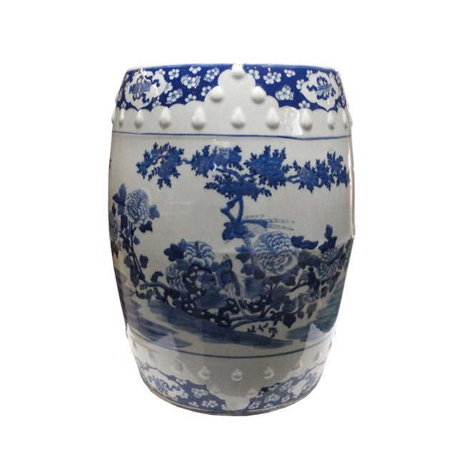 Chinese Porcelain Round Graphic Stool - Image 2 of 4