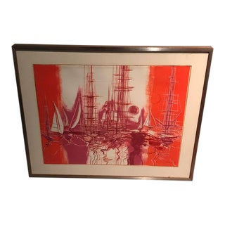 Modern Max Gunther Signed Lithograph