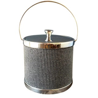 1946 Beaded Metal Ice Bucket