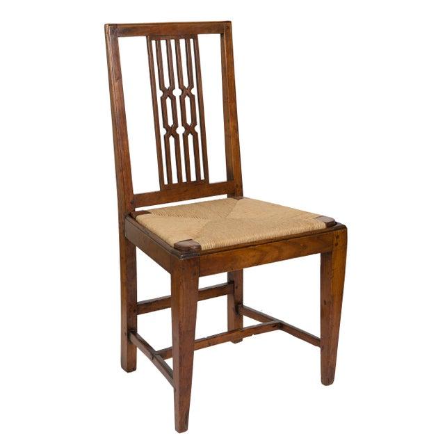 Rush Seat Dining Chairs - Set of 4   Chairish