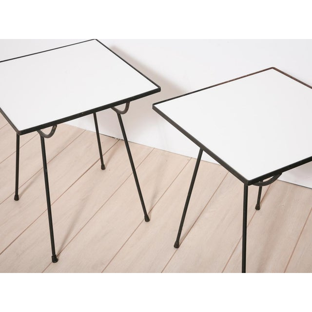 George Nelson Milk Glass Side Tables - Pair - Image 5 of 8