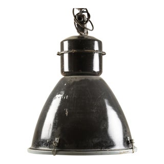 Czech Steel Industrial Hanging Lamp, 1960s