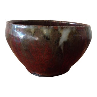 1970s Studio Art Glazed Clay Bowl