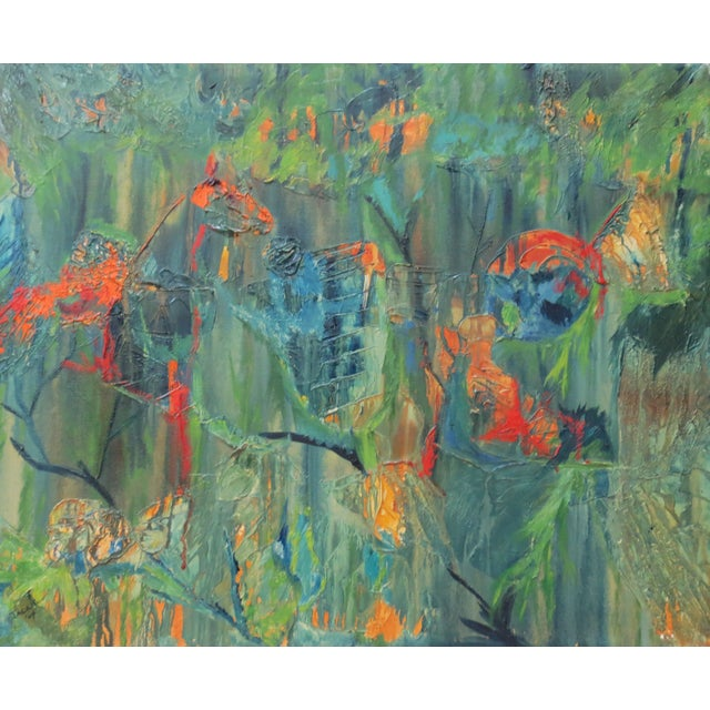Image of Jackie Johnson Vintage 1960's Abstract Painting