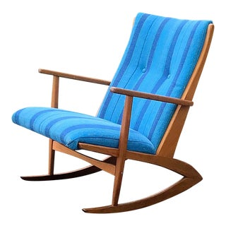Solid Teak Georg Jensen Rocking Chair for Kubus