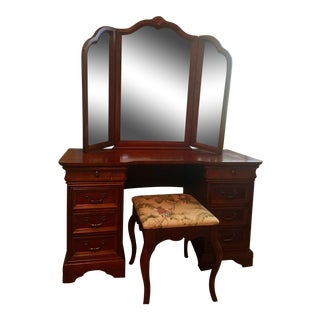 Lexington Mirrored Vanity Desk