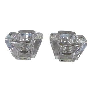 Orrefors Crystal Candleholders - Set of 2
