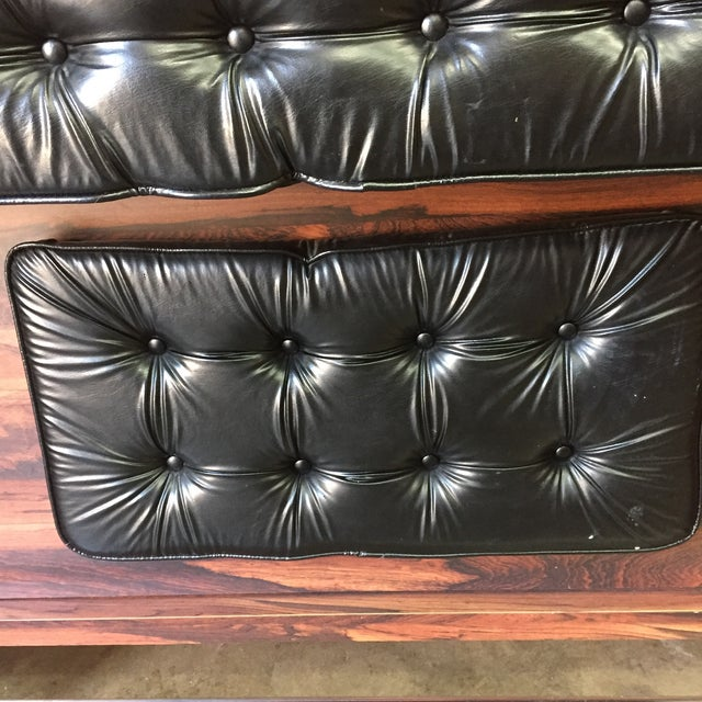 1960s Vintage Black Leather Tufted Dry Bar - Image 10 of 11