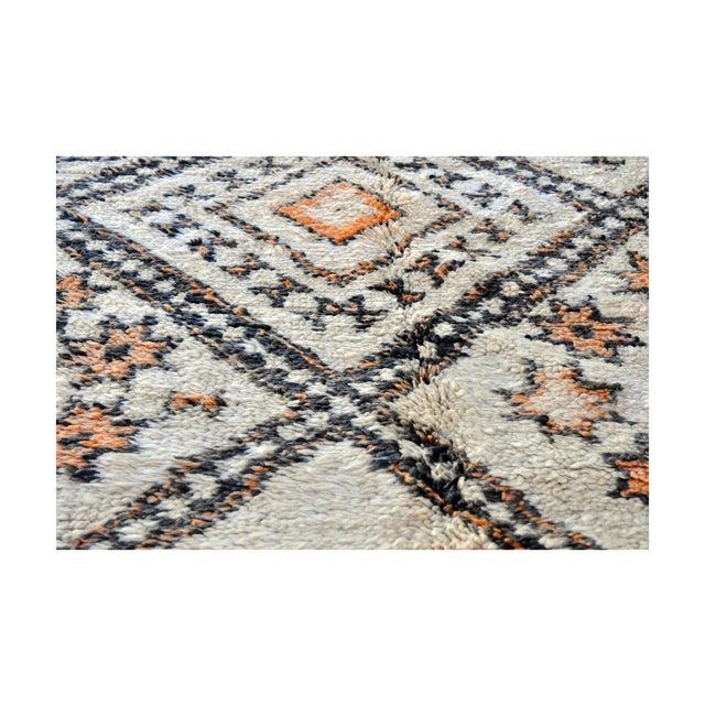"""Moroccan Azilal Orange Diamond Rug - 10'6"""" x 5'9"""" - Image 4 of 4"""