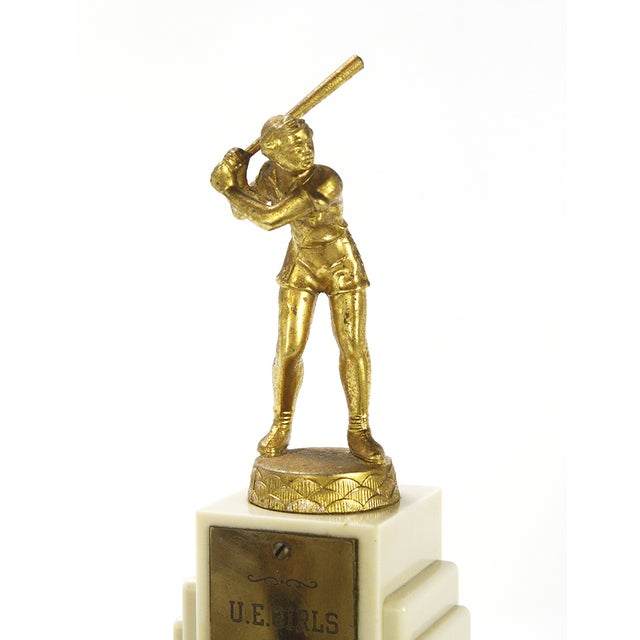 Vintage Large 1950s Women's Softball Trophy - Image 2 of 3