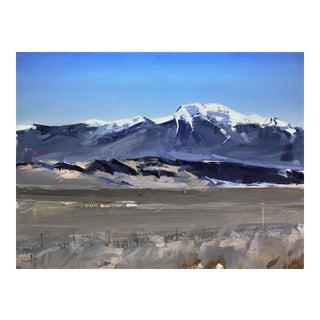 """David Shingler """"Sangre De Cristo Mountains. Colorado"""" Painting"""