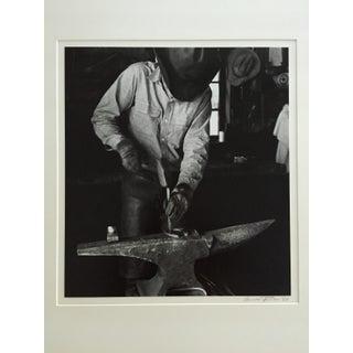 Vintage 1966 Black & White Cowboy Photograph