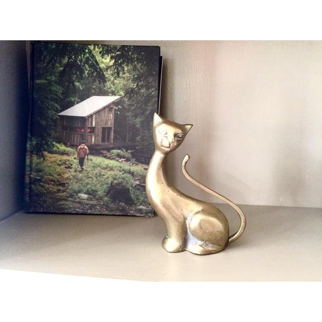 Antique Art Deco Brass Siamese Cat Statue - Image 4 of 5