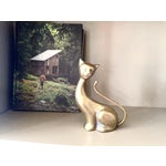 Image of Antique Art Deco Brass Siamese Cat Statue