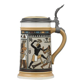 Egyptian Mettlach Beer Stein