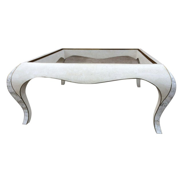 Maitland Smith Tessellated Stone Coffee Table - Image 1 of 8