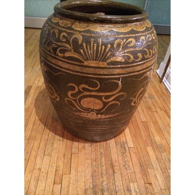 Antique Chinese Dragon Motif Planter - Image 4 of 5