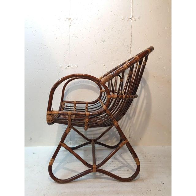 Franco Albini Style Rattan Chair - Image 3 of 7