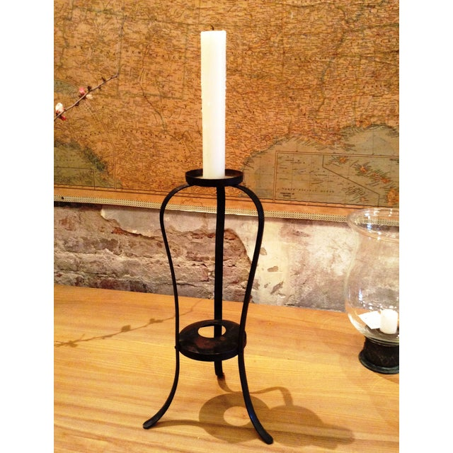 Early-20th Century Forged Japanese Candle Holder - Image 2 of 4