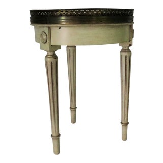 French Bouillotte Side Table