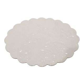 White Mandala Motif Ceramic Tray