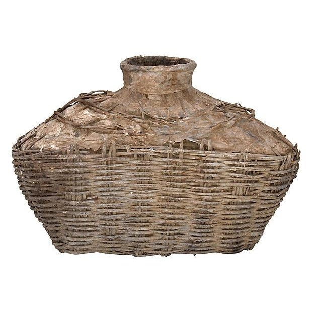 Image of Antique Chinese Large Fishing Basket - A Pair