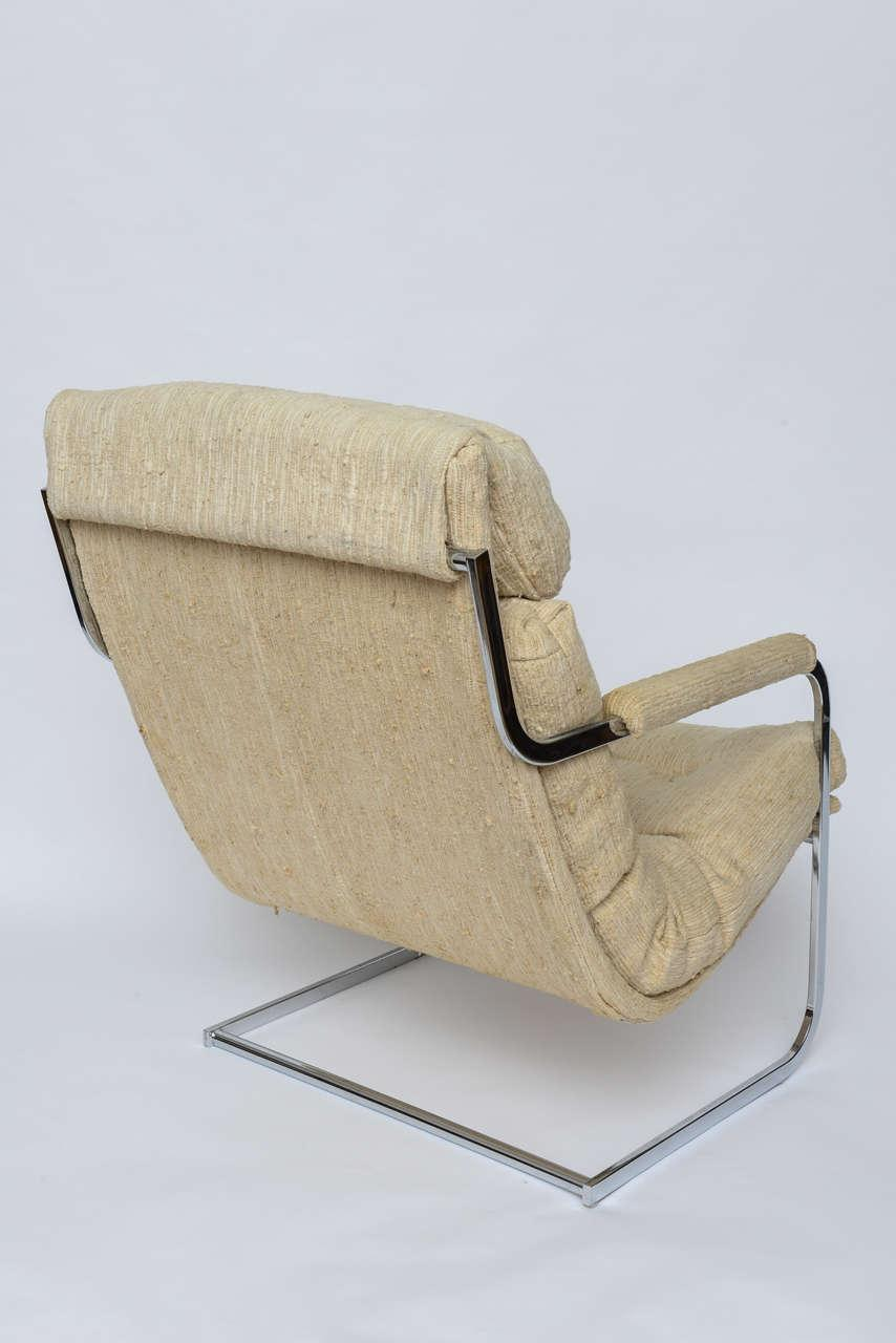 Milo Baughman Style Cantilever Lounge Chair 1960s   Image 5 Of 10