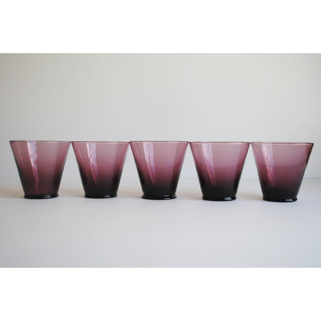 Amethyst Cordial Glasses, Set of 5 - Image 4 of 5