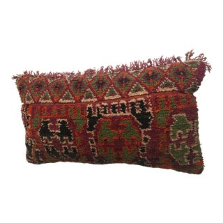 1960s Vintage Moroccan Wool Stuffed Pillow