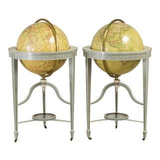 An Exceptional Contemporary Pair of Bespoke Shagreen Globes