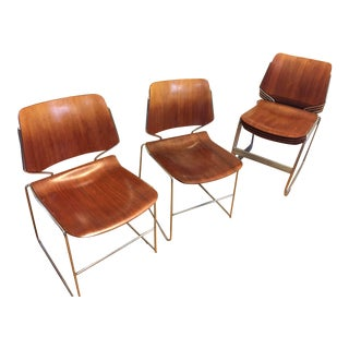 Molded Plywood Stacking Chairs - Set of 6