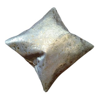 Gold Metallic Cowhide Pillow