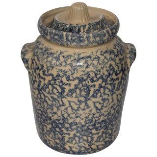 20th Century Ransbottom Spongeware Cookie Jar