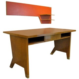 Rare Gio Ponti Desk and Wall Shelf