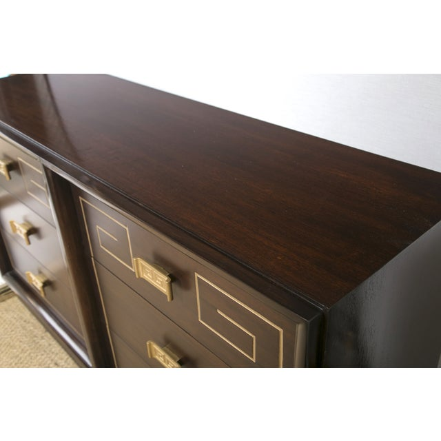 Image of Tommi Parzinger Style Gold Detailed Sideboard