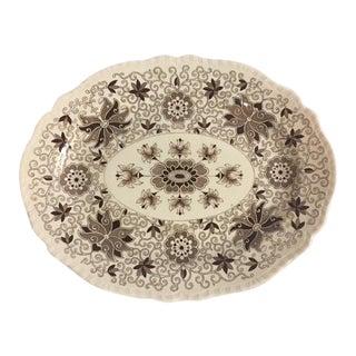 Mason's Brown & White Platter