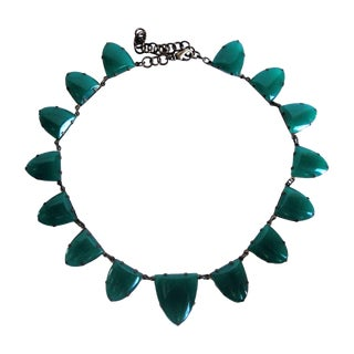 1930s Green Aventurine Bunting Necklace