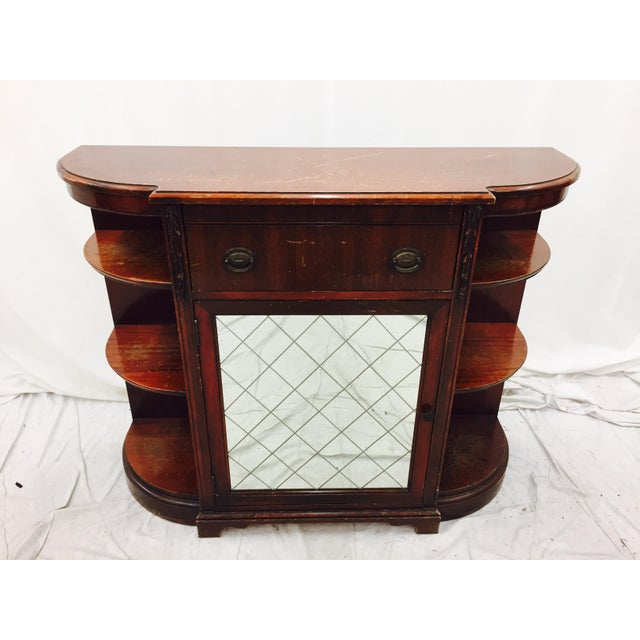 Vintage Mahogany Mirrored Console Chest - Image 3 of 11