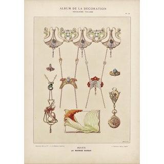 Art Nouveau Jewelry Design Lithograph