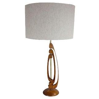 Mid-Century Modern Walnut Sculptural Lamp