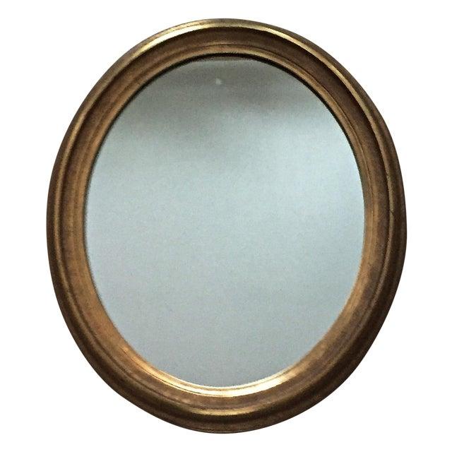 Vintage Gilt Wood Oval Mirror - Image 1 of 8