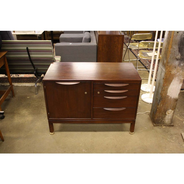 Jens Risom Cherry Wood Credenza - Image 3 of 6
