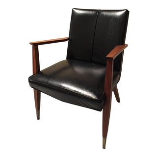 Mid-Century Modern V-Back Arm Chair