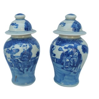 Foo Dragon Ginger Jars - A Pair