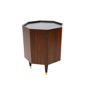 Octagonal Rosewood Side Table