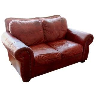 Scroll Arm Auburn Love Seat