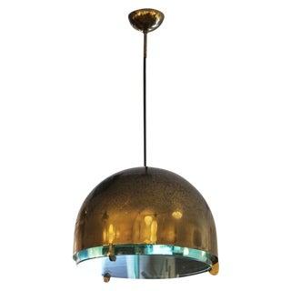 Rare Brass Fontana Arte Pendant Mod. 2409, Italy, 1960s